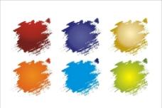 笔刷喷墨墨迹矢量素材图片