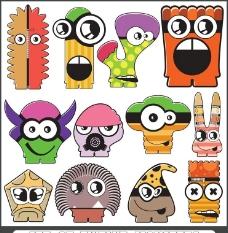 卡通小怪物怪兽图片