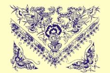 中式花纹花边图案图片