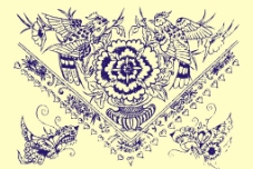 中式花纹花边矢量图片