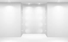 画廊展示背景矢量素材
