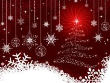 精美圣诞节彩球背景矢量素材