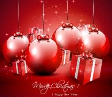 圣诞装饰礼物背景