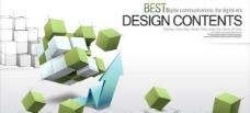 时尚3d商务概念文本背景设计矢量素材三