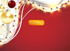 璀璨的圣诞灯光背景矢量素材二