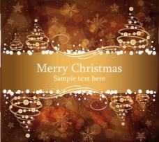 棕色华丽圣诞背景矢量素材