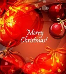 绚丽圣诞背景矢量素材二