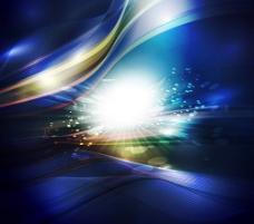 动感科技光芒背景矢量素材三