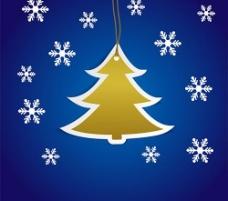 圣诞节蓝色背景矢量素材