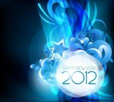 星光璀璨的2012背景矢量素材二
