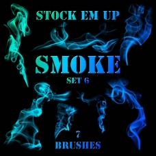 丝状烟雾笔刷,雾气笔刷轻烟