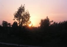 傍晚景色图片