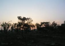 夕阳下的风光图片