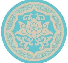花纹荷花传统纹样图片