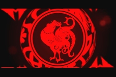 剪纸红公鸡视频素材下载