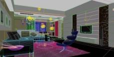 客厅模型图片