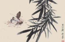 竹影双鸟图片
