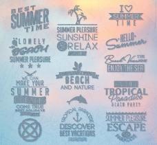 夏日标签图片