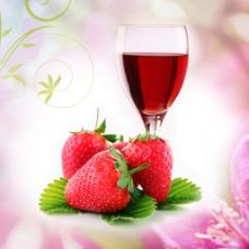 餐厅画草莓