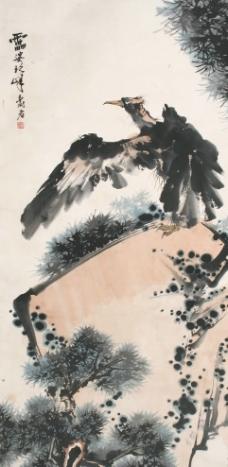 潘天寿 松鹰图图片