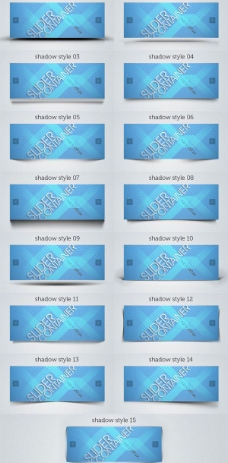 蓝色卡片横幅psd分层素材