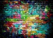 彩色岩石墙壁图片