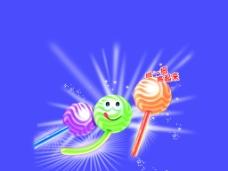 荧光棒棒糖图片