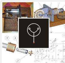 斯特林蒸汽发动机图纸图片