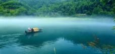 小东江晨雾图片