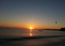 海边夕照图片