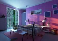 简约现代卧室效果图图片