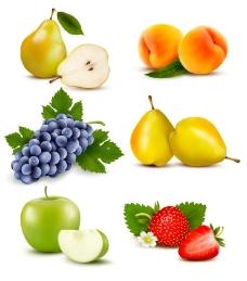 梨子桃子蓝莓鸭梨草莓图片
