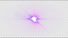红紫色镜头光晕透明素材