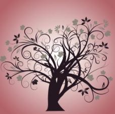 优美线条组合的树