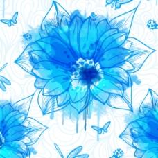 矢量手绘线条花