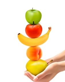 蘋果香蕉桃子圖片