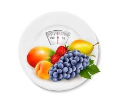 體重計藍莓草莓檸檬圖片