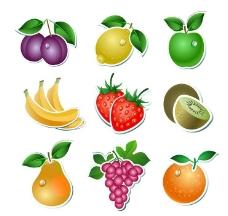 香蕉藍莓檸檬蘋果葡萄圖片