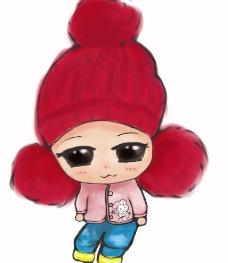 宝贝小红帽Q版图片