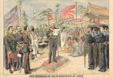 日本军队油画图片