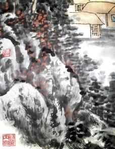 张丙官 山水画图片