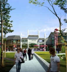 兴化北大街入口透视图片