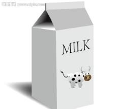 矢量牛奶盒图片