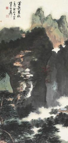 華岳高秋圖圖片
