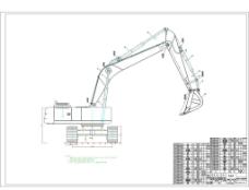 挖掘机的外形图CAD图片