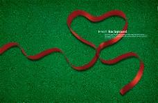 高清PSD分层素材红心丝带