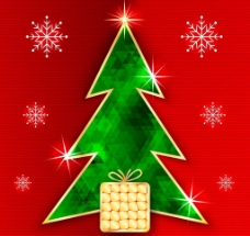 金边圣诞树图片