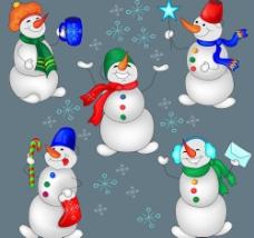 圣誕雪人矢量素材圖片