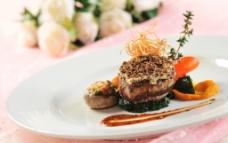 香煎鹅肝牛柳图片
