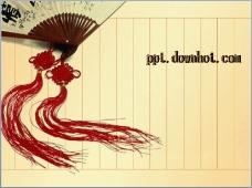 古典中国风折扇主题ppt模板